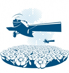 poster airplane vector image