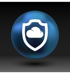 protection of cloud storage icon internet vector image