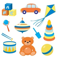 Set of toys 3 vector image