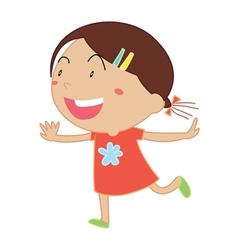 Simple child cartoon vector image vector image