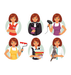 women professions vector image