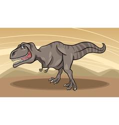 cartoon of tyrannosaurus dinosaur vector image vector image