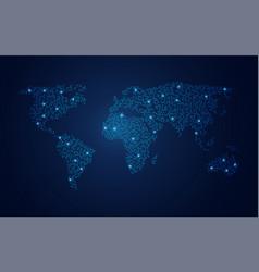 circle world vector image