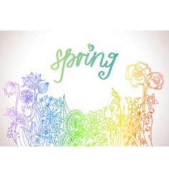 Romantic colorful flower background vector image vector image