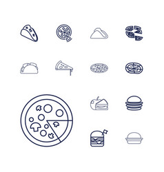 13 cheese icons vector