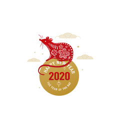 2020 rat happy new year background chinese vector