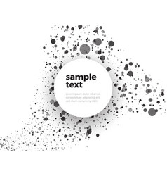 abstract black and white dotted background with vector image