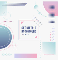 abstract modern pastel color geometric vector image