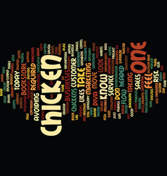are you a chicken text background word cloud vector image