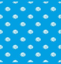 aster flower pattern seamless blue vector image