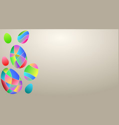 background of colored easter eggs vector image