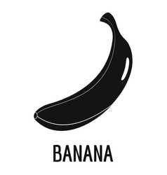 banana icon simple style vector image