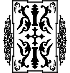 Black ancient vintage ornament on white vector