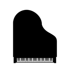 Black grand piano top view vector