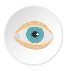 Blepharoplasty icon circle vector