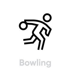 bowling sport icons vector image