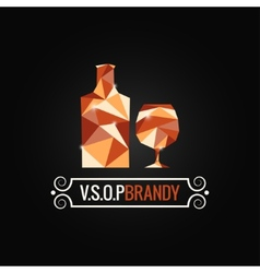 brandy glass poly design background vector image
