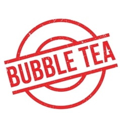 Bubble Tea rubber stamp vector image