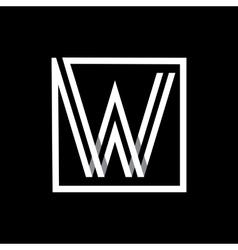capital letter w monogram logo emblem vector image