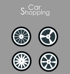 Car spare parts shopping flat banner template vector