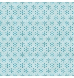 Christmas Snowflakes Pattern Seamless vector image