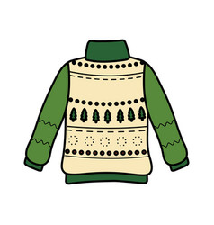 Christmas ugly sweater party decorative snowflakes vector