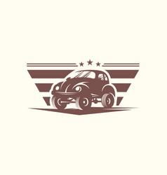 classic car logo design template vector image