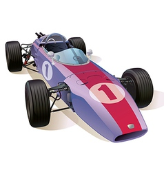 Classic f1 racing car vector