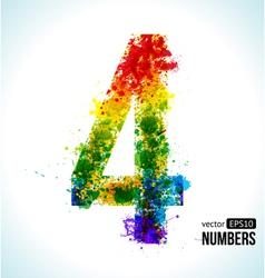 Color paint splashes Gradient Number 4 vector