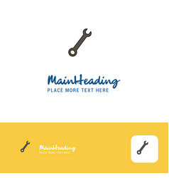 creative wrench logo design flat color logo place vector image