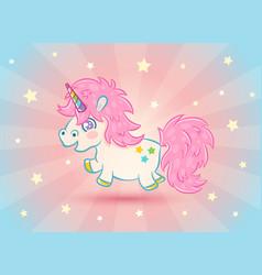 cute unicorn with stars vector image