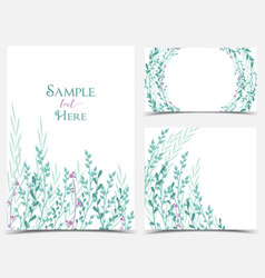 decoration branches and leaves vector image
