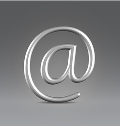 Email silver over gray vector image