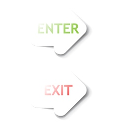 Enter Exit arrows vector