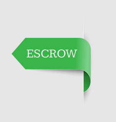 escrow place storage vector image