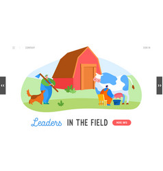 farming rancher working on animal ranch landing vector image