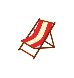 flat beach lounger icon vector image