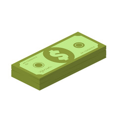 flat isometric cartoon banknote cash vector image