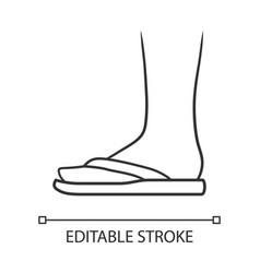 Flip flops linear icon woman stylish footwear vector