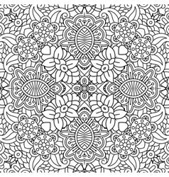 floral full frame background geometric designs vector image