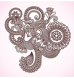 Flower Doodle Design Element vector