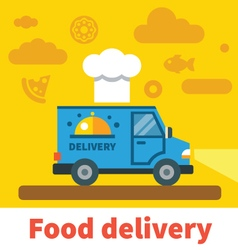 Food delivery car vector image