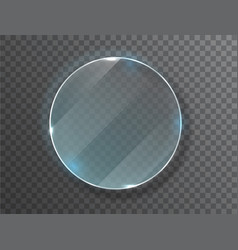 Glass circle badge with a place for inscriptions vector