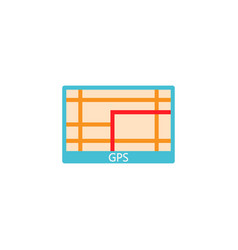 Gps navigation solid icon car element navigator vector