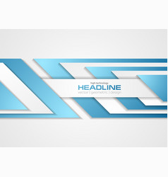 Grey and blue tech abstract corporate background vector