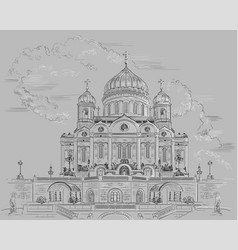 grey moscow vector image