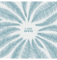 Hand drawn palm leaves vector image