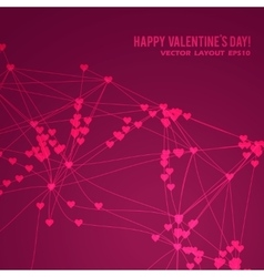 Happy Valentine Day background vector image