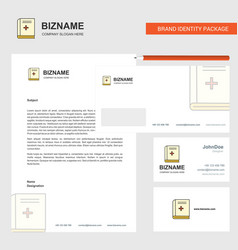 health book business letterhead envelope and vector image