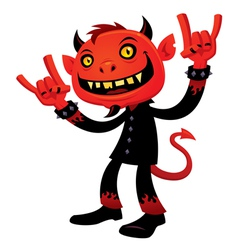 heavy metal devil vector image